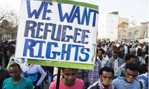 Asylum seekers protest in Israel