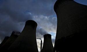 Power station chimneys
