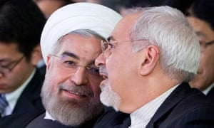 Hassan Rouhani and foreign minister Zarif