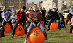 Brighton Seafront Hosts Space Hopper Race