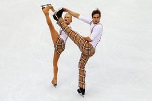 Anais Morand and Antoine Dorsaz of Switzerland  wear this snazzy number from Vancouver in 2010.