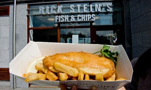Rick Stein's fish and chips restaurant and take away, Falmouth, Cornwall