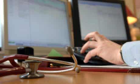 A GP updates medical records