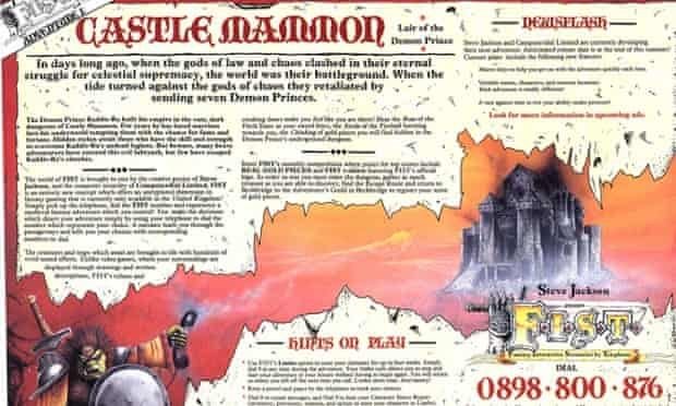 Before there were app stores, there were telephone roleplaying games...