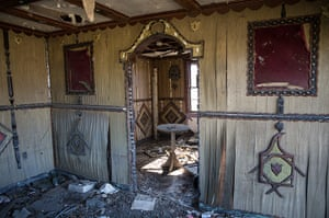Rebuilding New Orleans: Water damaged walls inside a house
