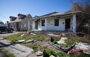 """Rebuilding New Orleans: An abandoned house bearing an """"X"""" code"""