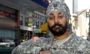 Captain Kamaljeet Singh Kalsi wearing turban