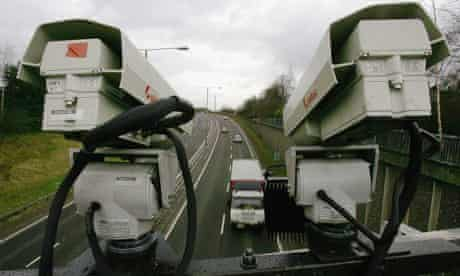 Number plate recognition cameras scan the M77 near Glasgow