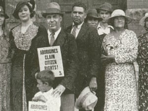 Aboriginal people protesting for citizen rights