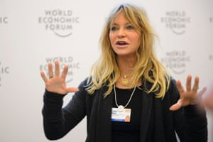 From yesterday, US actress Goldie Hawn speaking at Davos.