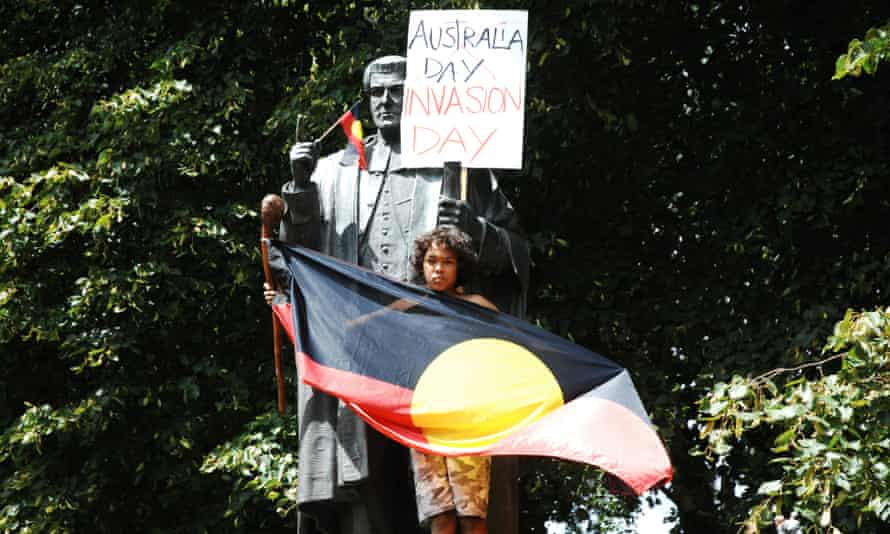 Invasion Day protest in Hobart