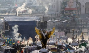 The anti-government protest camp in Independence Square in Kiev