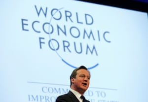 Britain's Prime Minister David Cameron speaks during a session at the annual meeting of the World Economic Forum (WEF) in Davos January 24, 2014.