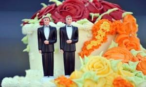 A cake for a gay wedding