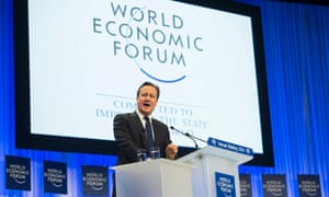 British Prime Minister David Cameron speaks during a panel session on the third day of the 44th Annual Meeting of the World Economic Forum (WEF) in Davos, Switzerland, 24 January 2014.
