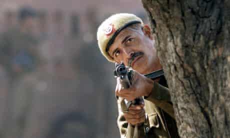 A Delhi police officer