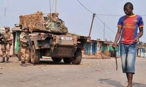 Central African Republic Christian militiaman