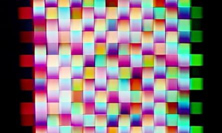 Jessica Eaton's Ad Infinitum photo (MB RGB Weave 01)