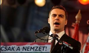 Gábor Vona, leader of Hungary's far-right Jobbik party