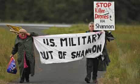 Shannon airport protest