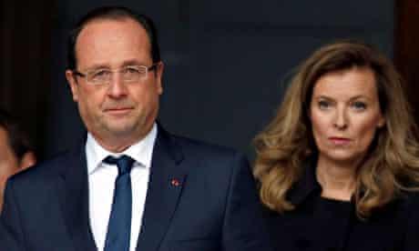 French President Hollande and Valerie Trierweiler