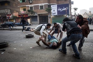 Cairo protest: A mortally wounded protester