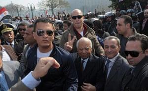 Cairo protest: Hazem al-Biblavi attends the celebrations