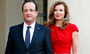 Francois Hollande and Valerie Trierweiler are leading separate official lives