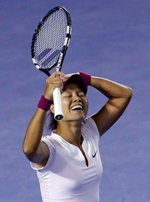 women's final: Li Na celebrates