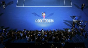 women's final: Li Na of China poses with the Australian Open trophy