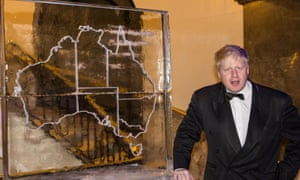 London mayor Boris Johnson at Australia House on Saturday night when he was named honorary Australian of the Year in the UK for 2014
