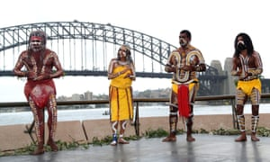 An aboriginal dancer performs a traditional dance during a smoking ceremony on Australia Day  in Sydney, Australia, Sunday, Jan. 26, 2014.