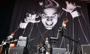 Pelle Almqvist of The Hives performs live for fans at the 2014 Big Day Out Festival on January 26, 2014 in Sydney, Australia. Photo by Mark Metcalfe/Getty Images