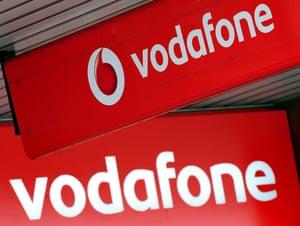 A Vodafone shop in Birmingham.