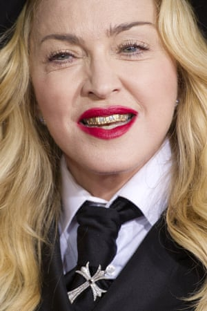 Madonna makes her dazzling arrival on the red carpet.