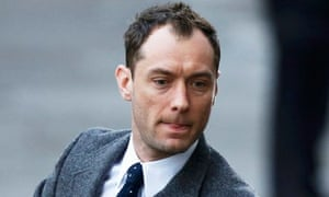 Actor Jude Law arrives at Old Bailey