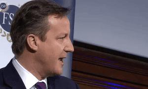 David Cameron addressing the FSB
