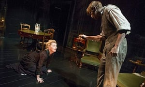 Lesley Manville (Helene Alving) and Jack Lowden (Oswald Alving) in Ghosts