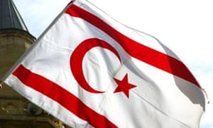 The flag of the Turkish Republic of Northern Cyprus