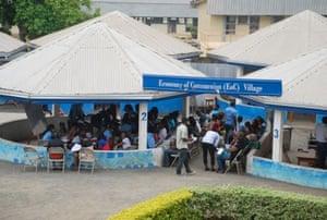 Outdoor community classrooms at CUIB.