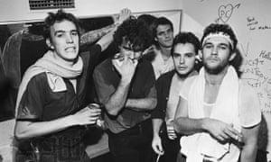 Cold Chisel backstage at the Manlyvale Hotel