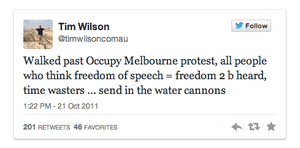Tim Wilson's tweet.