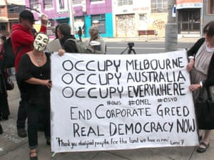 Occupy Melbourne protesters.