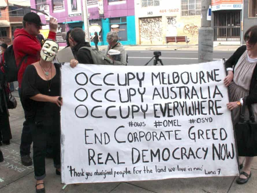Occupy Melbourne protesters.