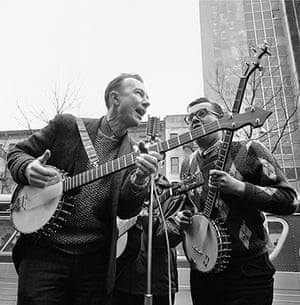 Pete Seeger: Seeger, left, performing at the Rally for Detente at Carnegie Hall in New Y