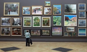 Selling art online and reaching new markets 5 tips for artists woman looking at paintings publicscrutiny Image collections