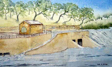 An artist's impression of the finished Halton Lune Hydro project