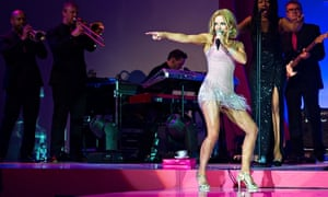 Geri Halliwell performs at a charity fashion show in 2012.