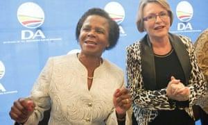 Mamphela Ramphele (left) with Helen Zille, leader of the Democratic Alliance