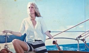 Clara Salaman on the yacht